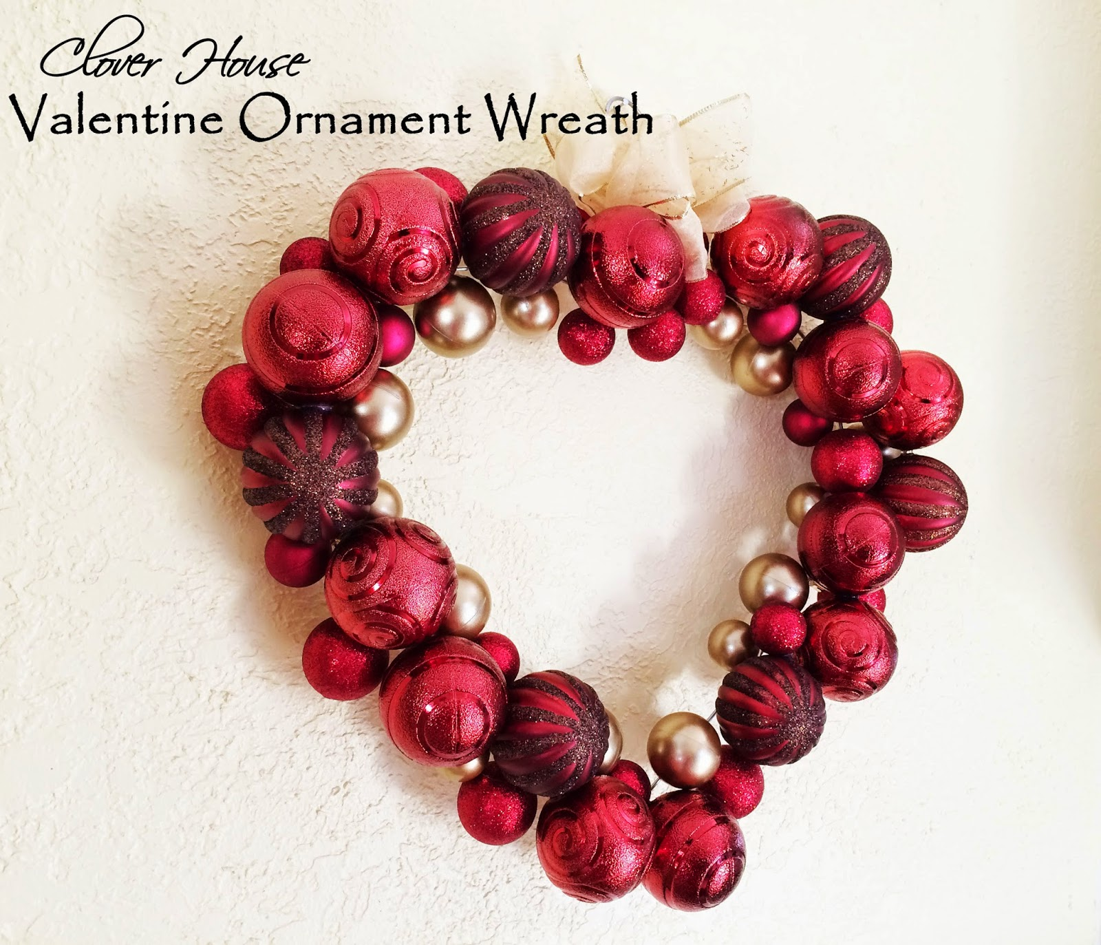 Valentine Ornament Wreath from Clover House