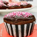 Make your sweeties some Chocolate Glazed Cocoa Cupcakes for Valentine's Day! The light & tender cake is finished with an easy, amazing & rich chocolate glaze. At littlemisscelebration.com