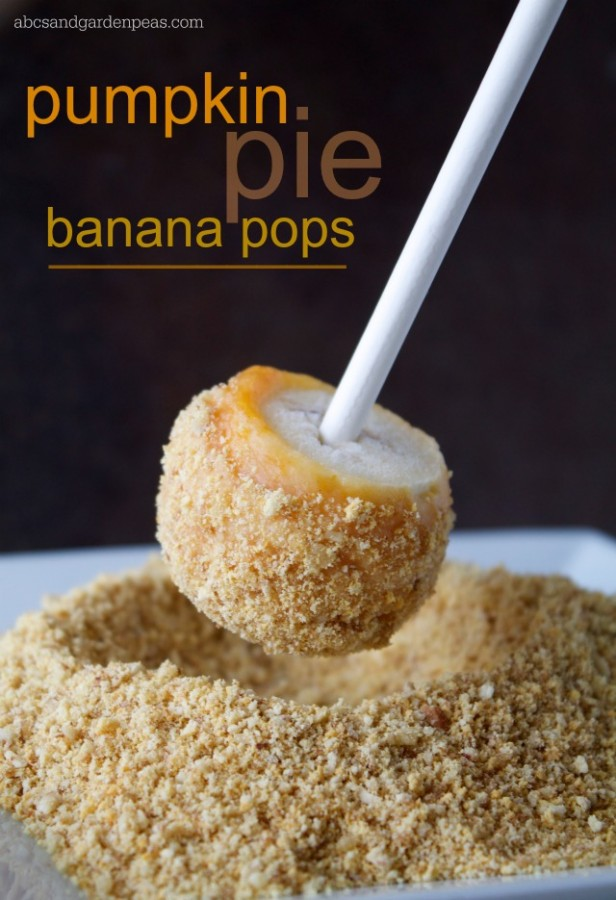 Pumpkin Pie Banana Pops from ABCs and Garden Peas