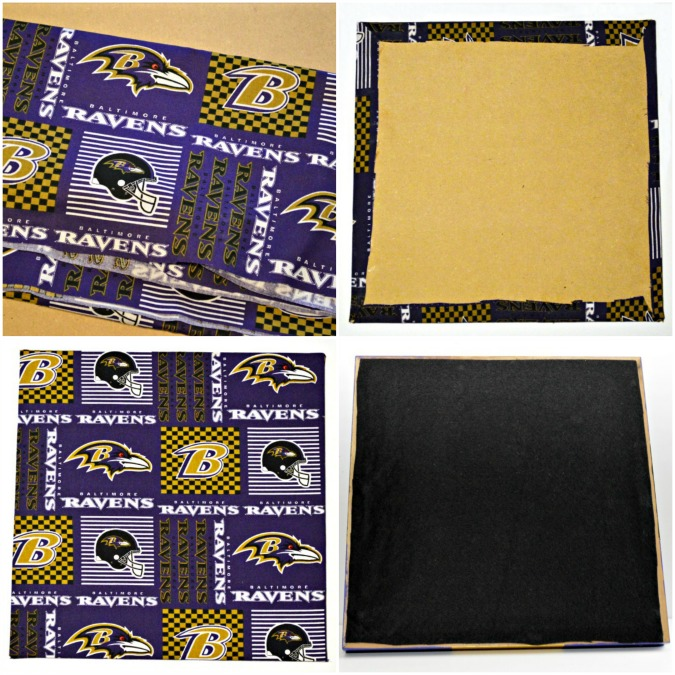 Turn an old picture frame into a fun football tray that celebrates your home team spirit! Great DIY gift idea for the football lover! At littlemisscelebration.com
