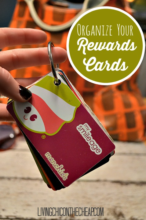 Organize Your Rewards Cards from Living Chic on the Cheap
