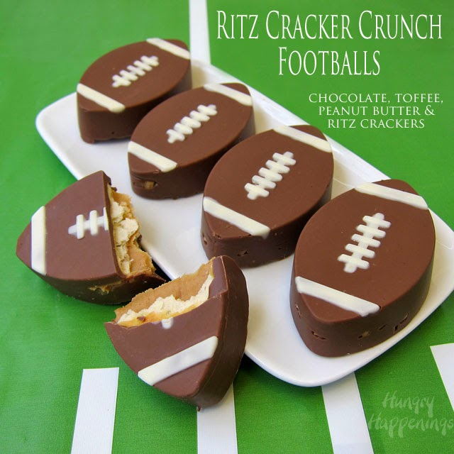 Ritz Cracker Crunch Footballs from Hungry Happenings