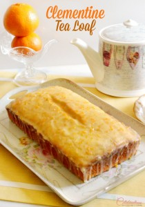 Enjoy the sweet, juicy clementine baked as an easy, glazed quick bread bright with sunshine flavor! Perfect to enjoy with a cup of tea & a good book on a cold winter afternoon! At littlemisscelebration.com