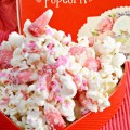 A little sweet, salty & fruity, Sweetheart Popcorn is an easy treat for Valentine's Day! At littlemisscelebration.com