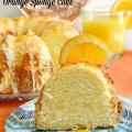 Bake up a light-as-air & delicious Orange Sponge Cake, finished with bright, orange glaze & grated orange peel. Perfect for a celebration! at littlemisscelebration.com