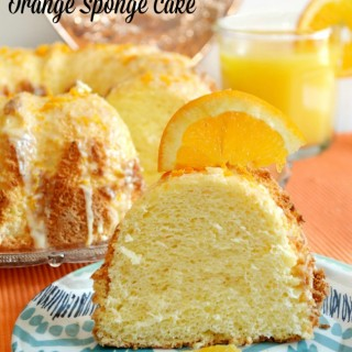 Orange Sponge Cake + Celebration Giveaway!