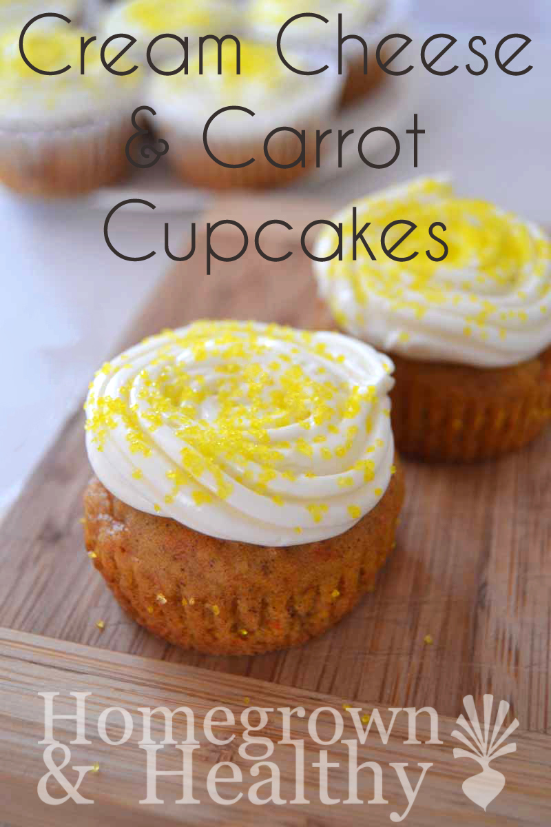 Carrot-cake Cupcakes from Homegrown & Healthy