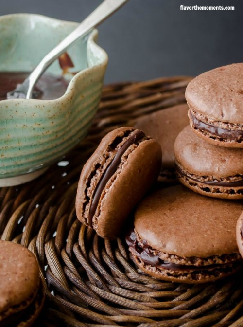 Chocolate Hazelnut Macarons from Flavor the Moments