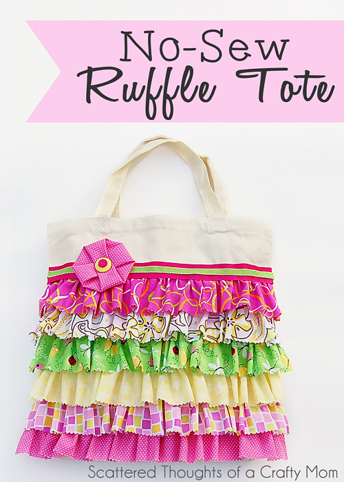 No Sew Ruffled Tote from Scattered Thoughts of a Crafty Mom