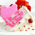 "Think pink for Valentine's Day! Peep of Pink Cake is a fast & easy way to shower your ""peep"" with sweet love! At littlemisscelebration.com"