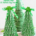 Make some fun, fast, & easy Cupcake Liner St. Patrick's Day Trees for the leprechauns! Change up the toppers and use these right through spring. At littlemisscelebration.com