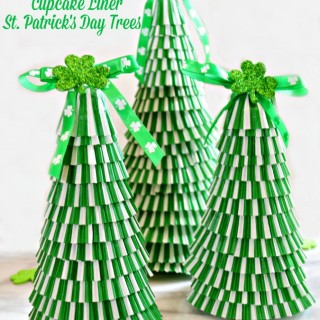 Cupcake Liner St. Patrick's Day Trees