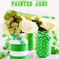 Any glass jars become Lucky Green Painted Jars for St. Patrick's Day! Give them as gifts to friends or fill with flowers through spring & summer! At littlemisscelebration.com