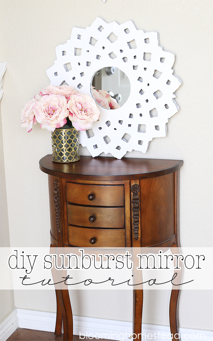 DIY Sunburst Mirror by Blooming Homestead