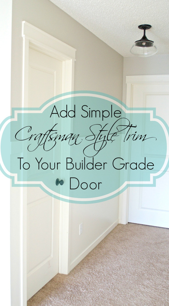 Add Simple Craftsman Style to Your Builder Grade Door from The Hatched Home