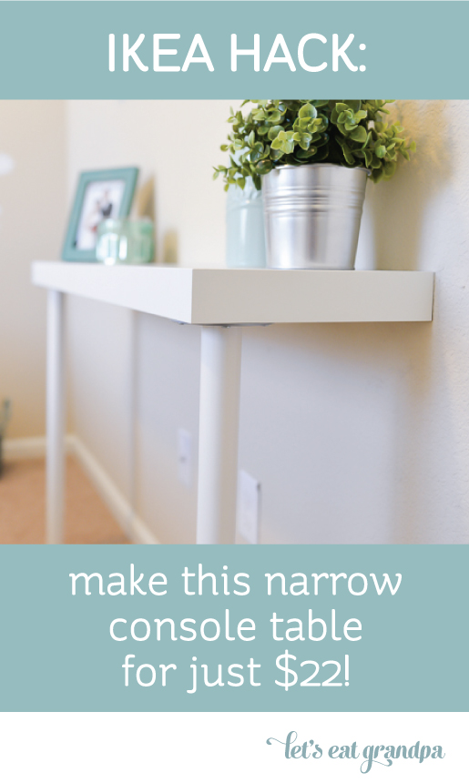 IKEA Console Table Hack from  Hey Let's Make Stuff