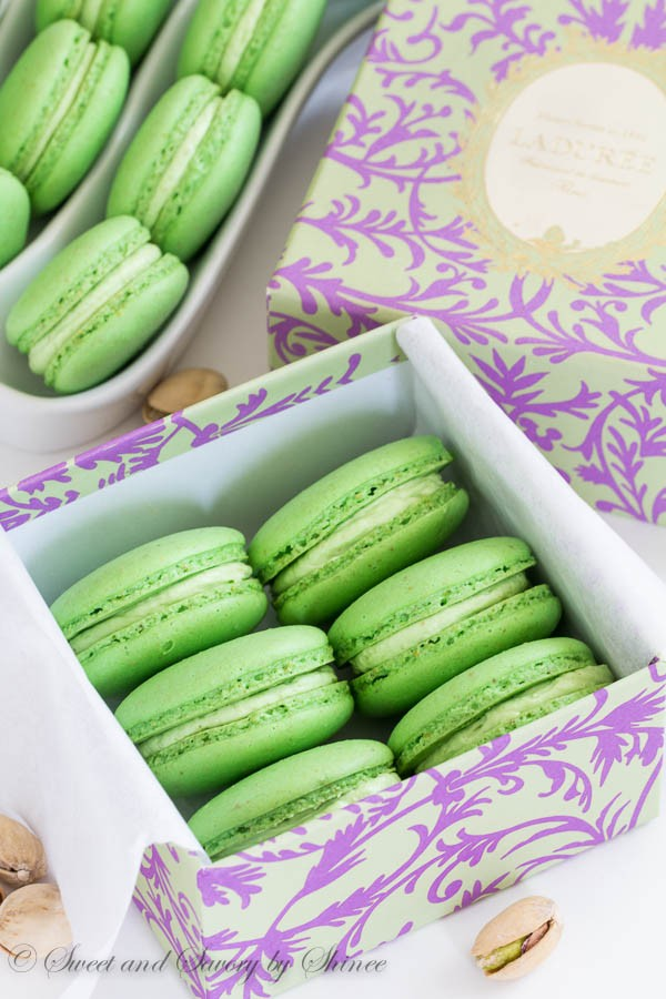 Pistachio Macarons from Sweet & Savory