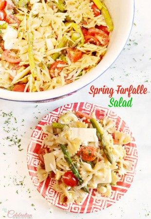 Mix farfalle, bow-tie pasta, with asparagus, cherry tomatoes, chopped egg, bacon and finish with a lemon balsamic vinaigrette for a Spring Farfalle Salad that's tastes as fresh as the season. Recipe at littlemsscelebration