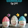 Craft eggs get rhinestone Easter bonnets and become ridiculously cute Gemhead Egg Girls! At littlemisscelebration.com