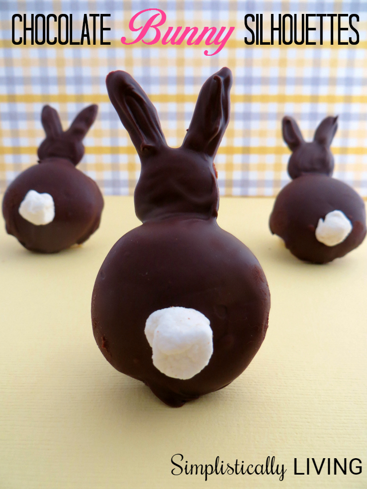 Chocolate Bunny Silhouettes from Simplistically Living