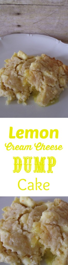 Lemon Cream Cheese Dump Cake from Couponing As A Lifestyle