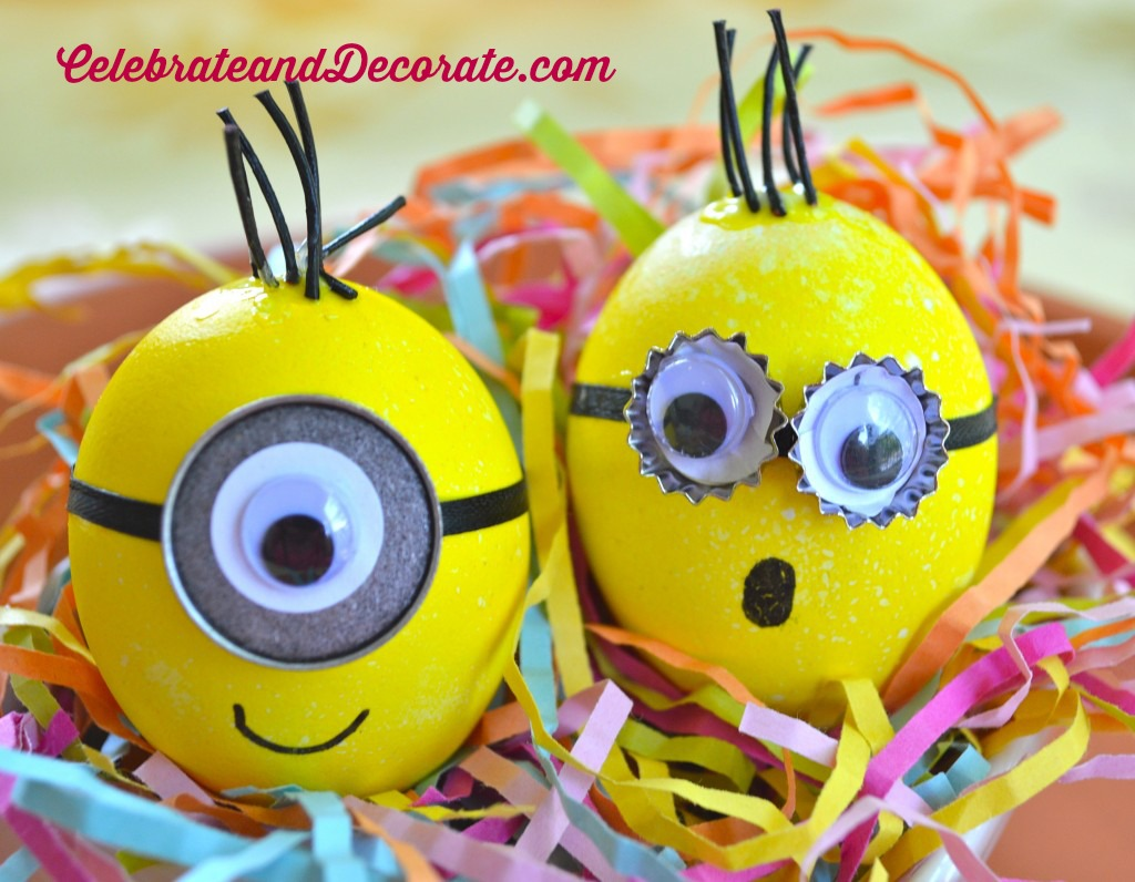 Minion Easter Eggs from Celebrate and Decorate