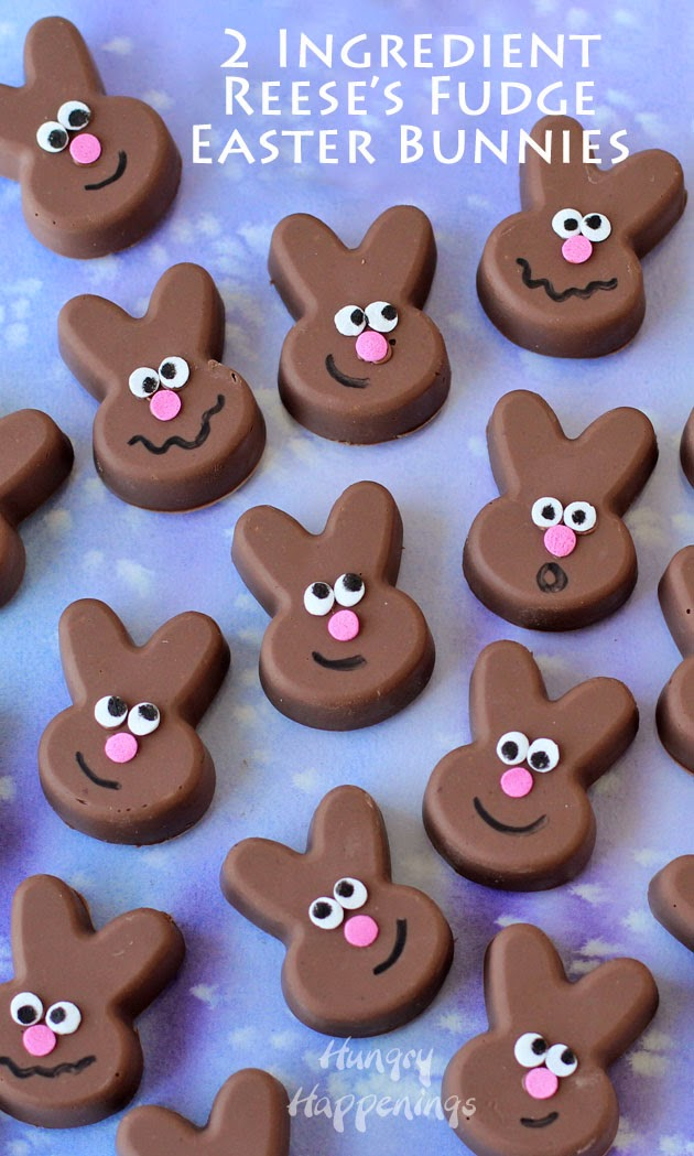 Reese's Fudge Easter Bunnies from Hungry Happenings