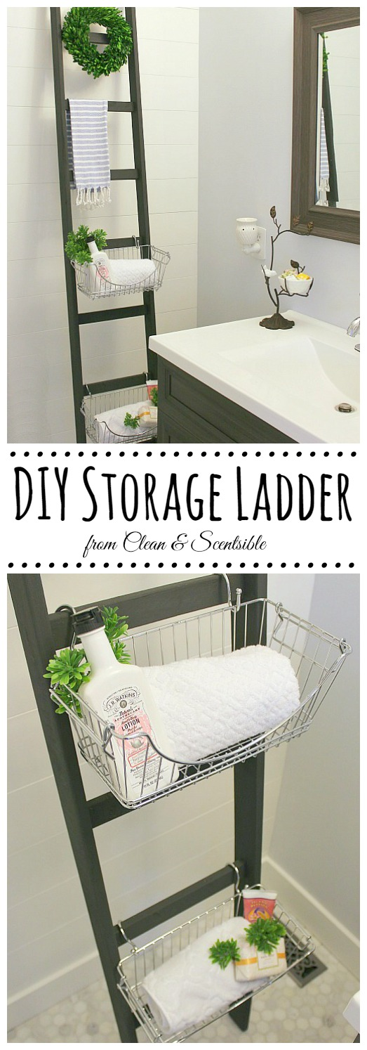 DIY Storage Ladder Tutorial from Clean & Scentsible
