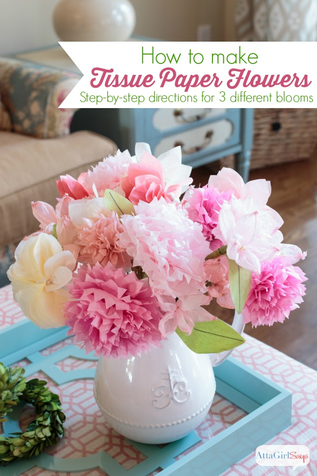 How To Make Tissue Paper Flowers from Atta Girl Says