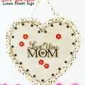 Make an easy DIY Love You Mom Sign to give Mom a visual reminder every day that she is loved! at littlemisscelebration.com