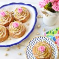 A pretty & perfect for May dessert! Make Rose Water Pistachio Cream Pound Cakes as individual rose cakes or beautiful tube cake for Mother's Day or any spring celebration! From littlemisscelebration.com