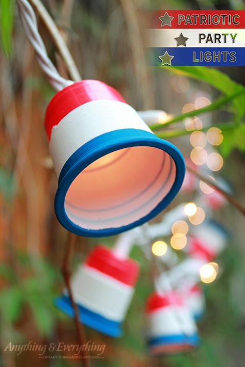 DIY Patriotic Party Lights from Anything & Everything