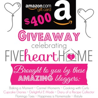$400 Amazon e-Gift Card Giveaway!