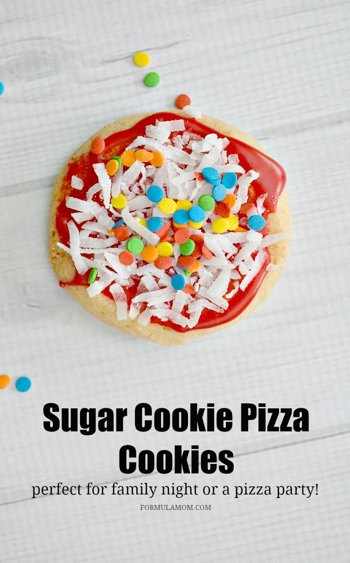 Sugar Cookie Pizza Cookies from Formula: Mom