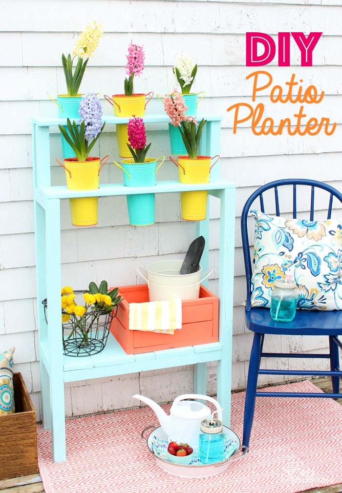 Easy to Build Patio DIY Planter from Fynes Designs