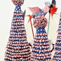 Red, White & Blue Cupcake Liner Trees are an easy way to add a patriotic touch right up to July 4th! Make a great centerpiece, too! At littlemisscelebration