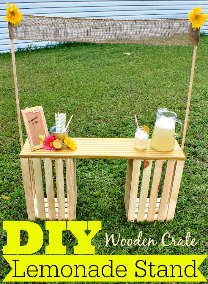 DIY Wooden Crate Lemonade Stand from Divine Lifestyle