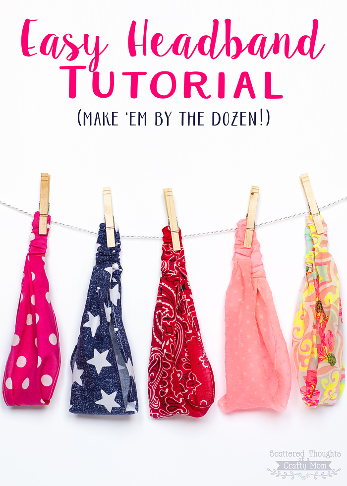 Easy Elastic Headband Tutorial from Scattered Thoughts of a Crafty Mom
