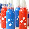 Toast Independence Day in red, white & blue style with Patriotic Soda Bottles! Can be washed and used for years to come! at littlemisscelebration.com