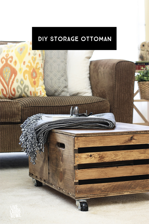 DIY Storage Ottoman from Live Laugh Rowe