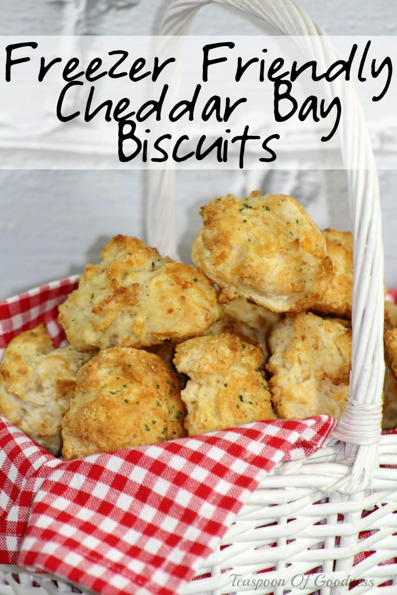 Freezer Friendly Cheddar Bay Biscuits from Teaspoon of Goodness
