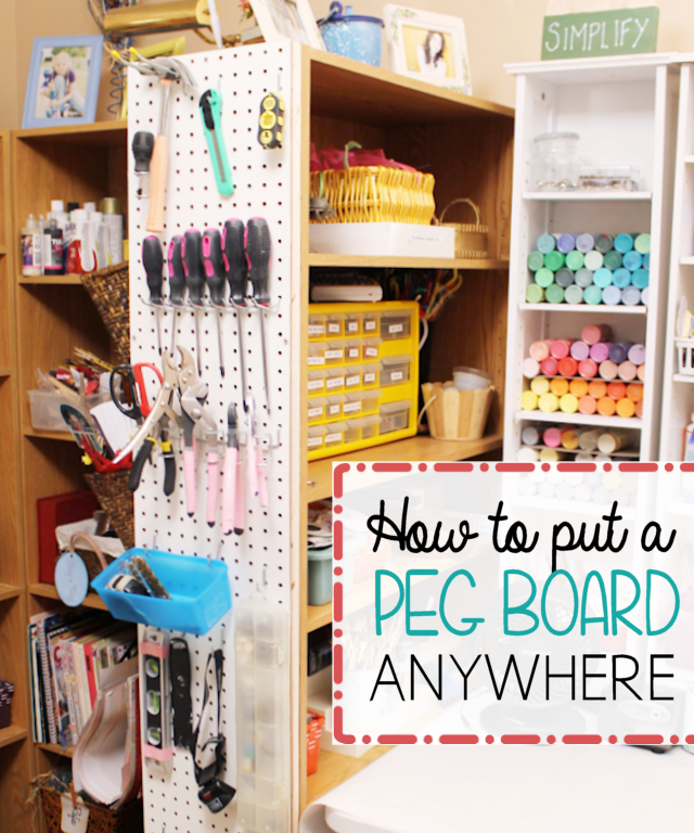 How To Put A Pegboard Anywhere from Our Peaceful Planet