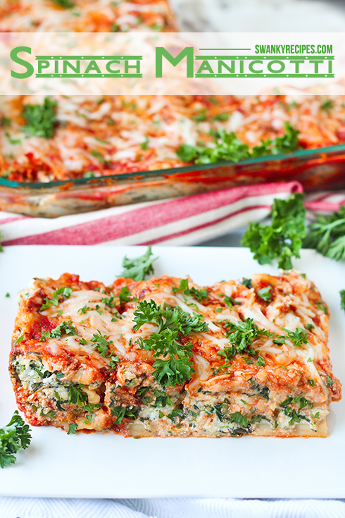 Spinach Manicotti from Swanky Recipes