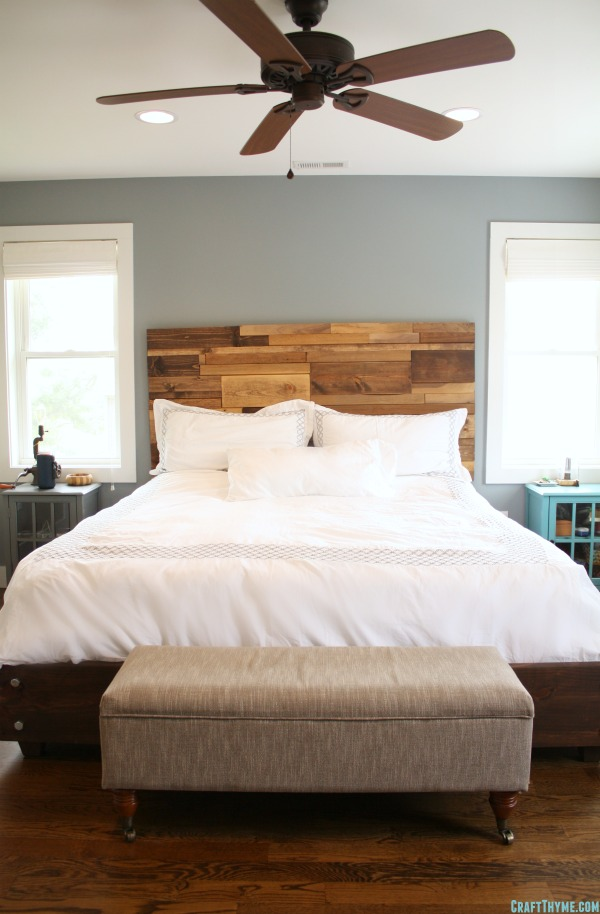 Building a Salvaged Wood Headboard from Craft Thyme
