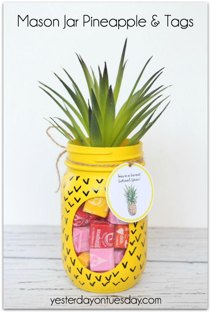 Mason Jar Pineapple and Tag from Yesterday on Tuesday