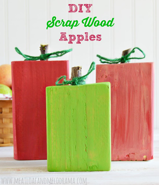 DIY Scrap Wood Apples from Meatloaf and Melodrama