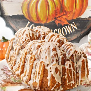 Cinnamon Glazed Pecan Pumpkin Bread