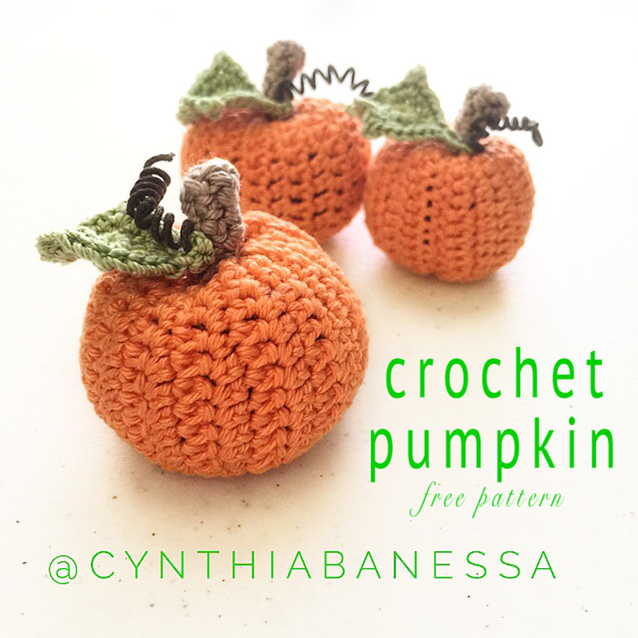 Crochet Pumpkin with Free Pattern from Cynthia Banessa