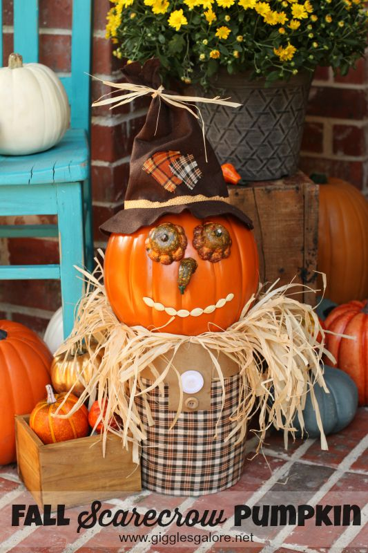 Fall Scarecrow Pumpkin from Giggles Galore