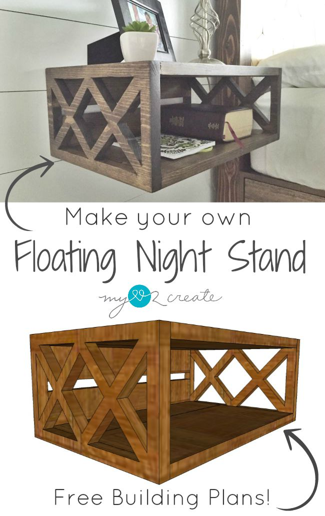 Make Your Own Floating Night Stand from MyLove2Create